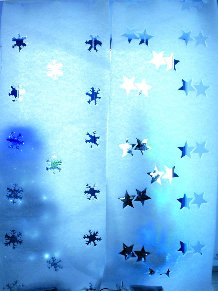 Vliesbanner mit schneeflockenausschnitten f r die - Winterliche dekoration ...